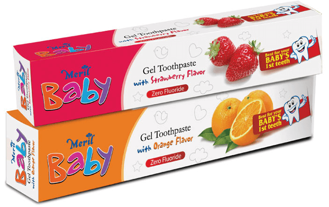 Meril Baby Gel Toothpaste (Orange) Combo