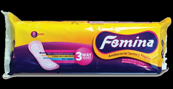 Femina Antibacterial Sanitary Napkin (Panty System)