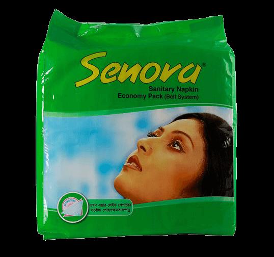 Senora Sanitary Napkin Economy Pack (Belt System)