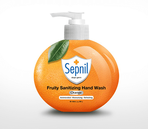 Sepnil Fruity Sanitizing Hand Wash – Orange