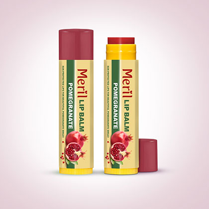 Meril Lip Balm (Pomegranate)