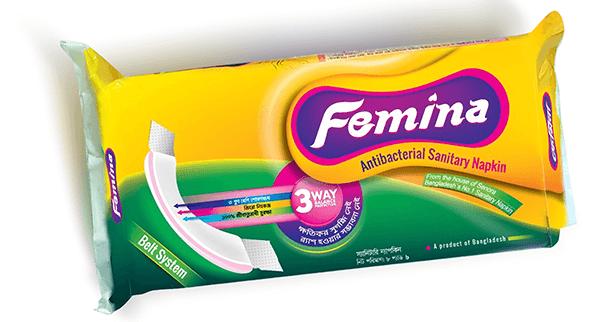 Femina Antibacterial Sanitary Napkin (Belt System)
